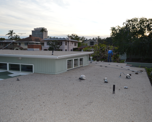 Torch down flat roof installation in Bankers Hill, San Diego-1