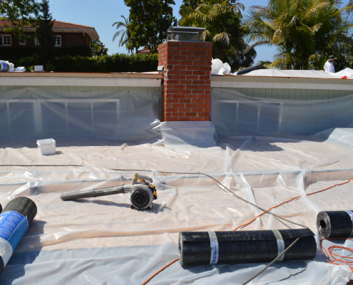 Torch down flat roof installation in Bankers Hill, San Diego-3