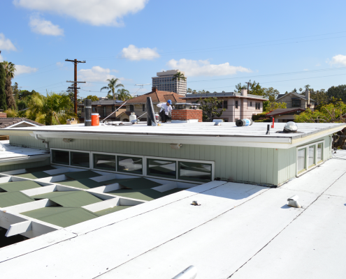 Torch down flat roof installation in Bankers Hill, San Diego-2