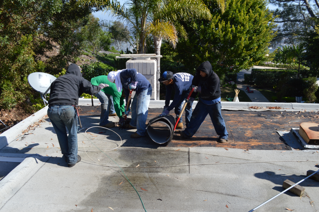 ... CA Flet Roof Installation Using Torch Down Roofing 6 ...
