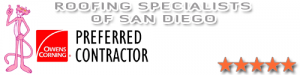Preferred roofing contractor San Diego