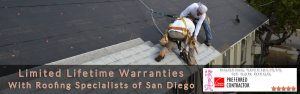 New residential roof installation in San Diego