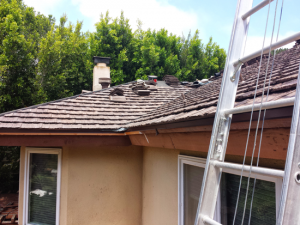 Cedar tile roofing project performed in Del Mar, CA, 92014