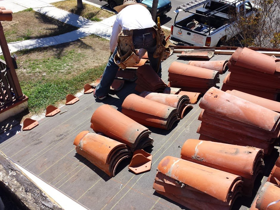 Clay Tile And Torch Down Roofing System In San Diego 92123
