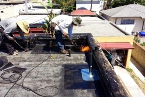 Torch down roofing in San Diego, CA, 92123