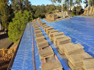 Rancho Santa Fe roof tile lift and lay with ventilation