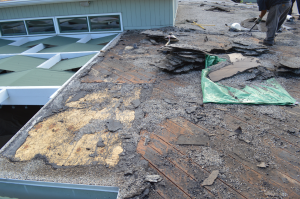 Torch down flat roof installation in Bankers Hill, San Diego-5