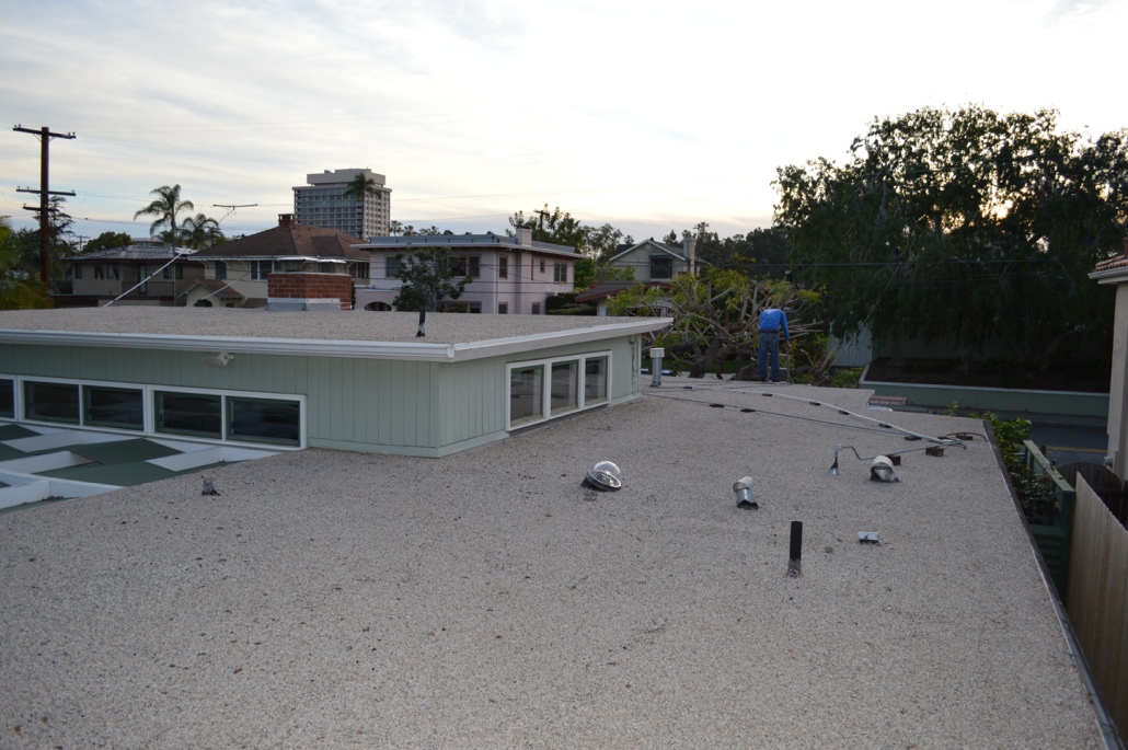Torch Down Flat Roofing Installation In Bankers Hill