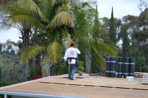 Torch down flat roof installation in Bankers Hill, San Diego-6