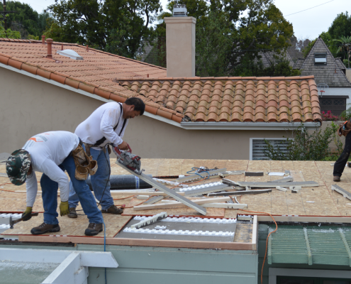 Torch down flat roof installation in Bankers Hill, San Diego-7