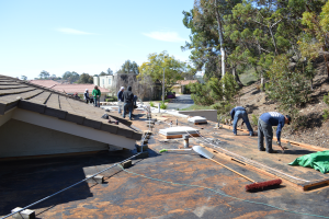 La Jolla, CA flet roof installation using torch down roofing