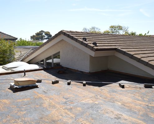 La Jolla, CA flet roof installation using torch down roofing-1