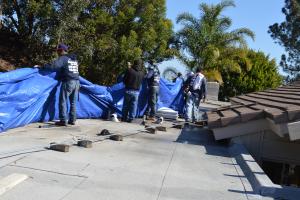 La Jolla, CA flet roof installation using torch down roofing-5
