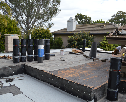La Jolla, CA flet roof installation using torch down roofing-2