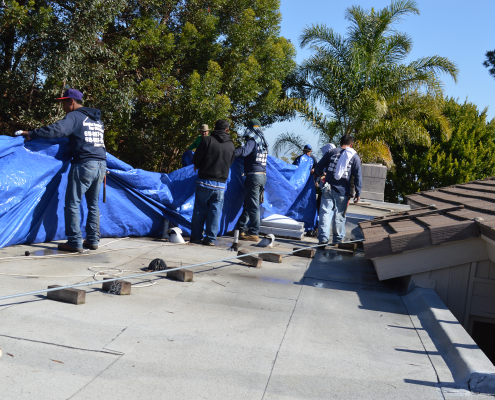La Jolla, CA flet roof installation using torch down roofing-5
