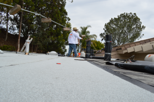 La Jolla, CA flet roof installation using torch down roofing-3