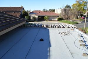 La Jolla, CA flet roof installation using torch down roofing-4