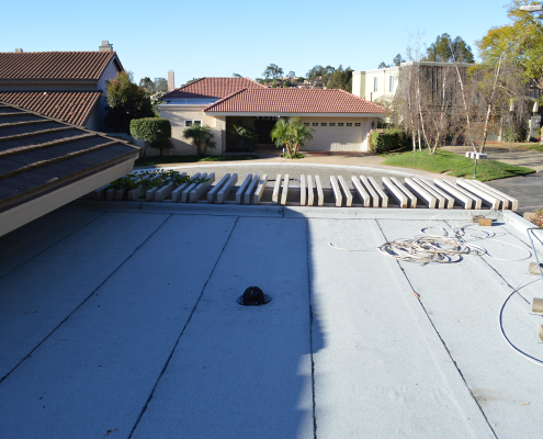 La Jolla, CA flet roof installation using torch down roofing-4