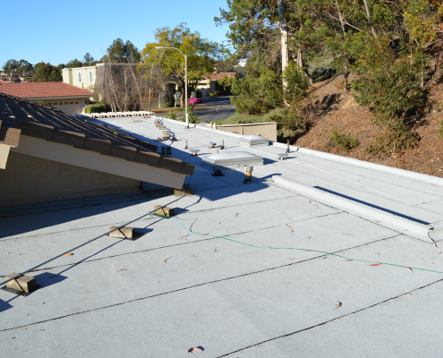 La Jolla, CA flet roof installation using torch down roofing-7